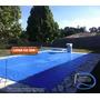 Capa De Piscina Azul P/ Cobertura Telhado 300 Micra 11 X 7 M