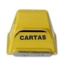 Caixa De Correio De Pvc Amarela Modelo Correios