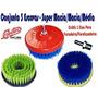 Escova Profissional P/ Lavar Estofados,carpetes,sofás 3 Pçs