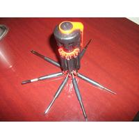 Kit 8 Chaves Fenda E Philips Mais Lanterna Led Em Bh