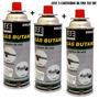 3 Cartuchos De Gas Butano Refil Para Macarico Portatil
