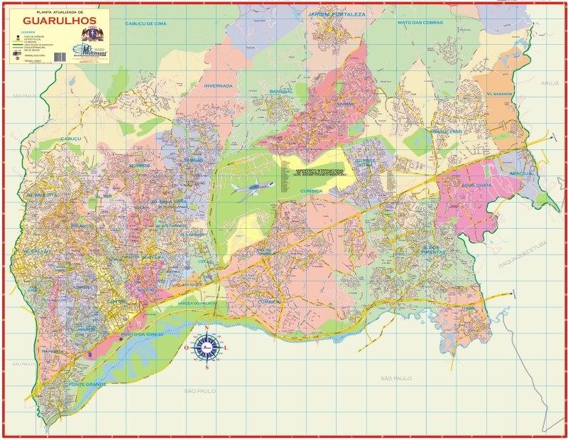 Mapa de Guarulhos, Cidade Guarulhos - São Paulo