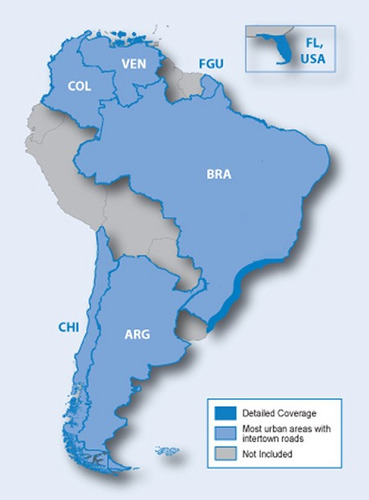 Mapa Para Gps Garmin America Do Sul Brasil Chile Argentina