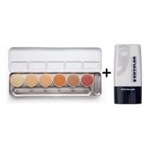 Kryolan Dermacolor Paleta H 6 Cores + Diluidor Makeup Blend