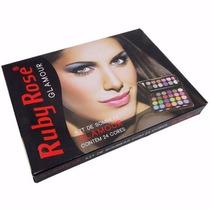 Estojo Maquiagem Kit Com 24 Sombras Glamour - Ruby Rose