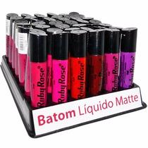 Batom Líquido Matte Ruby Rose.display C/42 Un Sai R$ 8,50 Un