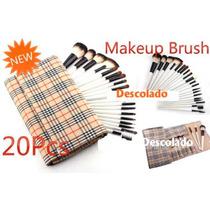Pincel Para Maquiagem Kit Com 20 Peças