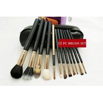 Mac ! Kit De 12 Pincéis Mac Vip* Série Ouro Kit Pincel Luxo