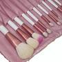 Pincel Rosa Para Maquiagem Kit Com 18 Peças