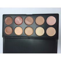 Paleta De Corretivos Maquiagem 10 Cores - P10 = Mac Zoreya