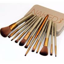 Kit 12 Pincéis De Maquiagem Naked 3 + Brushegg Higenizador