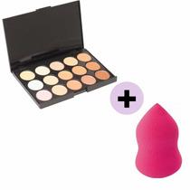Kit Corretivo Jasmyne + Esponja Estilo Beauty Blender