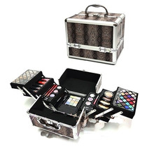 Maleta Maquiagem Jasmyne 99 Completa Kit Blush Profissional