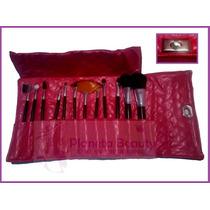 3 Kits Com 12 Pincéis Para Maquiagem + Brinde !!