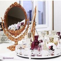 Bandeja Espelhada P/ Perfumes Cosmético Organiza Penteadeira