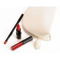 Mac Heirloom Red Bag Ruby Woo Batom Gloss Lápis Necessaire