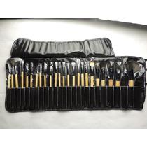 Pincel Blush Escova De Maquiagem Kit Profissional 24 Pcs
