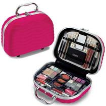 Maleta Maquiagem Fenzza Rosa Pink Completa + Brinde Especial