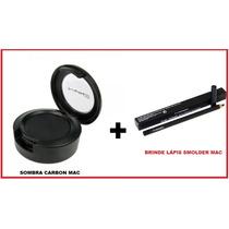 Sombra Mac Carbon Preta Matte 1,5g + Lápis Mac De Brinde.