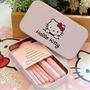 Kit De Pincel Para Maquiagem Infantil Hello Kitty Rosa