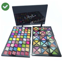 Kit Paleta Maquiagem 120 Cores Sombra 3d Fosca Brilho Labios