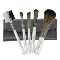 Mini Kit 5 Pincéis Para Maquiagem E Bolsa Macrilan Linha W