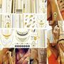 5 Cartelas Flash Tattoos Gold Tatuagem Temporaria Atacado