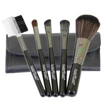 Mini Kit C/ 5 Pincéis P/ Maquiagem E Bolsa Macrilan Linha B