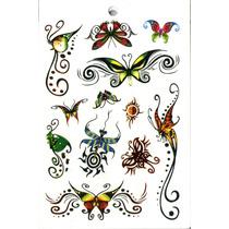 Kit Com 80 Tatuagem Temporária Motivo Diversos Floral Fada