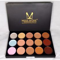 Kit Miss Rosê 3 Gloss Matte+paleta Corretivo 15 Cores