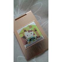 Mini Espelho De Bolsa Da Hello Kitty Cor Ouro Rosé