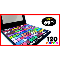 Kit Maquiagem Sombras 120 Cores Ruby Rose Linha Glamour