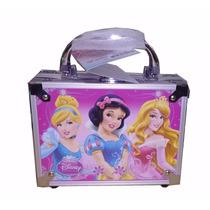 Kit Maleta Maquiagem Infantil Princesas Disney+ Brinde