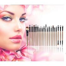 Kit De Pincel Para Maquiagem 20 Pçs - Make Up Profissional