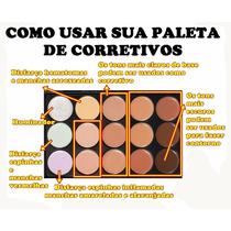 Paleta Base Corretivo 15 Cores Maquiagem Profissional Brinde
