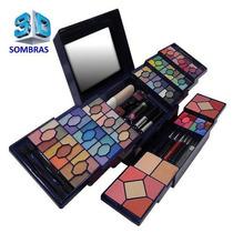 Kit Maquiagem Luisance 3d 90 Sombras 8 Blush Case Luxo