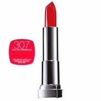Batom Color Sensational Maybelline 307 Vou De Vermelho