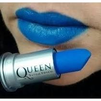 Batom Queen Stilo Matte Fosco Cor Azul
