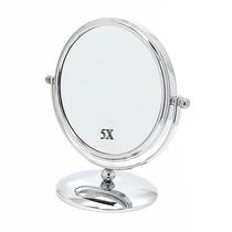 Espelho Para Maquiagem De Mesa Dupla Face 5x Aumento