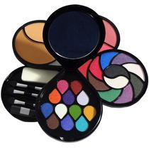 Kit Maquiagem Estojo Glamour 25 Sombras Pó Compacto Blush