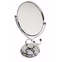 Espelho De Mesa Maquiagem Depilação Aumento 5xgiratorio Oval
