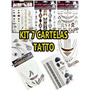 Kit Cartela Flash Tatto Gold Tatuagem Temporária Metalica