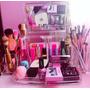 Organizador Porta Maquiagem Grande Acrílico C/ Espelho+mimo