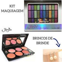 Kit Maquiagem Paleta Mac Naked Base Corretivo Kit Blush Luxo
