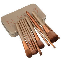 Kit Com 12 Pinceis Naked 3 Com Caixa De Metal - Frete Grátis