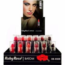 48 Batom Ruby Rose Art Make + Brindes - Melhor Que Queen
