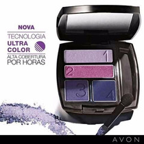 Quarteto Sombra P/ Olhos +mascara Violeta P/ Cílios +brinde