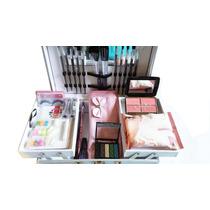 Maleta De Maquiagem 65 Itens, Jasmine, Ruby Rose + Brinde
