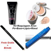 Maquiagem Avon 4 Itens Base Bbcream+pó+rimel+batom Promoção