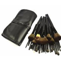 Pinceis Maquiagem Kit 32 Pç Profissional Completo + Estojo
